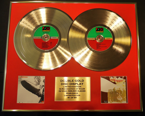 Double Gold Disc Record Displays Ltd. Edition