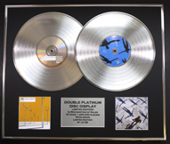 Double Platinum Disc Record Display Ltd Edition