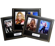 Music Framed Unsigned Photos - Double Photo Display