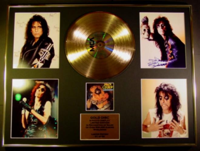 ALICE COOPER/CD GOLD DISC/RECORD/& PHOTO DISPLAY/LTD. EDITION/COA/C...
