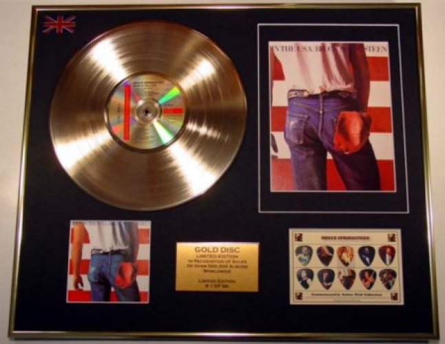 bruce springsteen greatest hits album art. BRUCE SPRINGSTEEN/CD GOLD