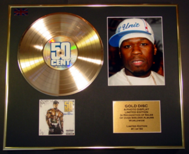 50 CENT/CD GOLD DISC & PHOTO DISPLAY/LTD. EDITION/COA/ALBUM 'THE MA...