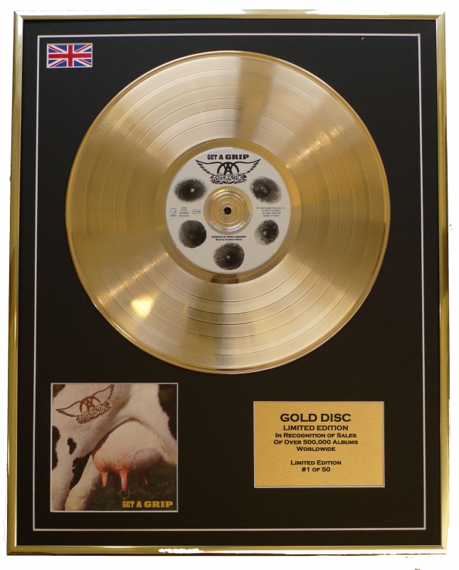 Aerosmith/Limited Edition Cd Gold Disc/'Get a Grip'/(Aerosmith)