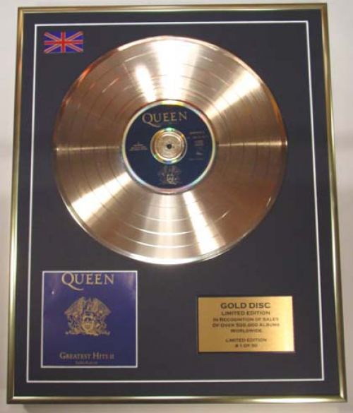 Queen/Limited Edition Cd Gold Disc/'Greatest Hits II'/(Queen)