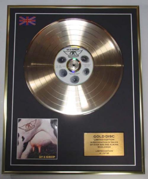 AEROSMITH/LIMITED EDITION/CD GOLD DISC/ALBUM 'GET A GRIP'/(Aerosmith)