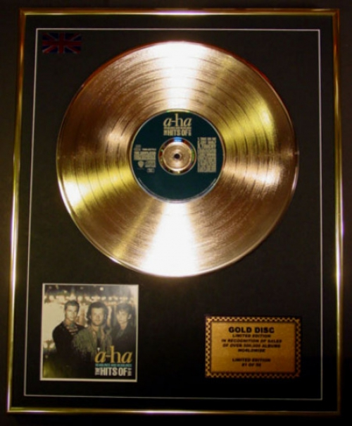 A-HA/LTD. EDITION CD GOLD DISC/'THE HITS OF A-HA'