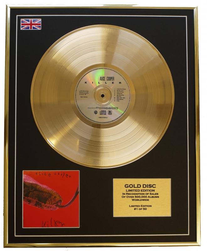 ALICE COOPER/LIMITED EDITION/CD GOLD DISC/ALBUM 'KILLER/(Alice Cooper)