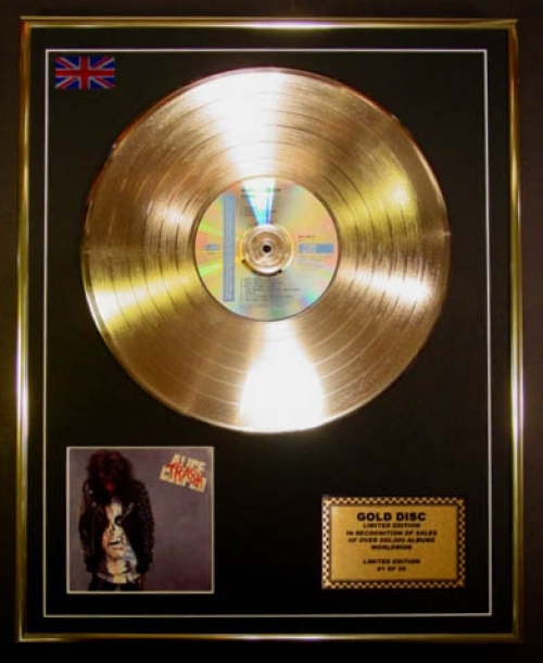 ALICE COOPER/LIMITED EDITION/CD GOLD DISC/ALBUM 'TRASH'/(Alice Cooper)