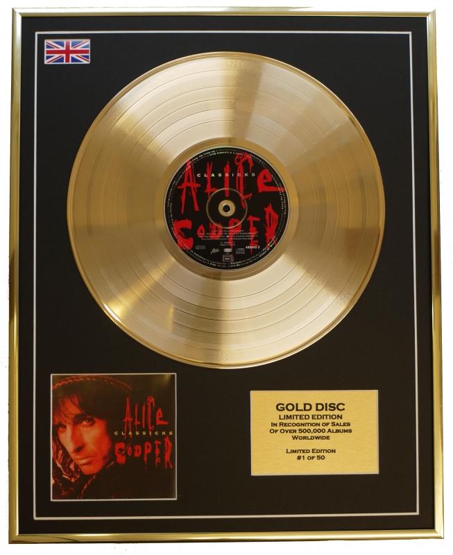 ALICE COOPER/LIMITED EDITION/CD GOLD DISC/ALBUM 'CLASSICKS'/(Alice ...