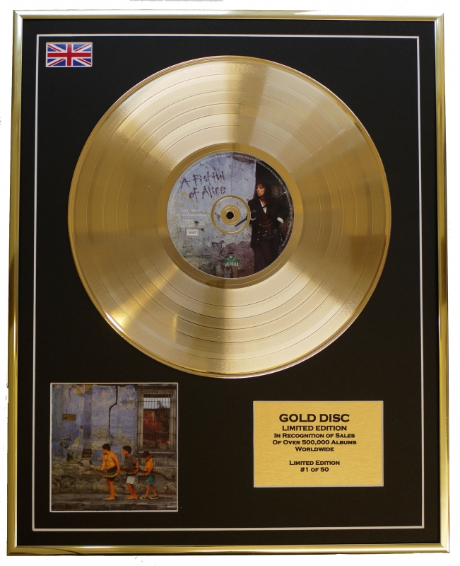 ALICE COOPER/LIMITED EDITION/CD GOLD DISC/ALBUM 'A FIRSTFUL OF ALIC...