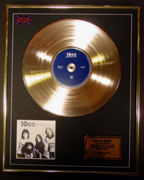 10CC/LTD. EDITION CD GOLD DISC/THE BEST OF THE EARLY YEARS