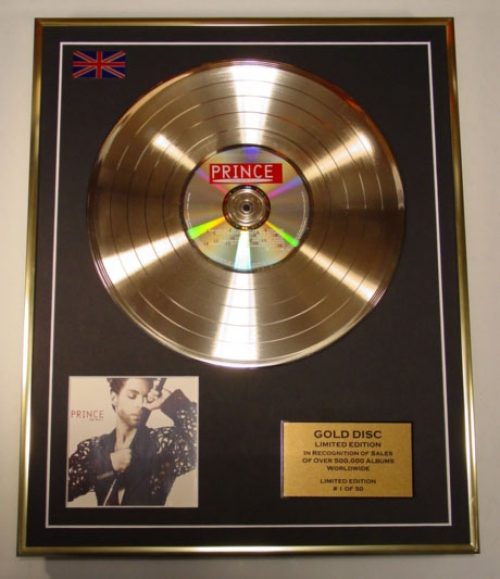 PRINCE/LTD EDITION CD GOLD DISC/ALBUM 'THE HITS 1'