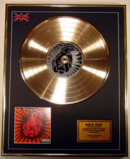 Metallica Limited Edition Cd Gold Disc Album St Anger