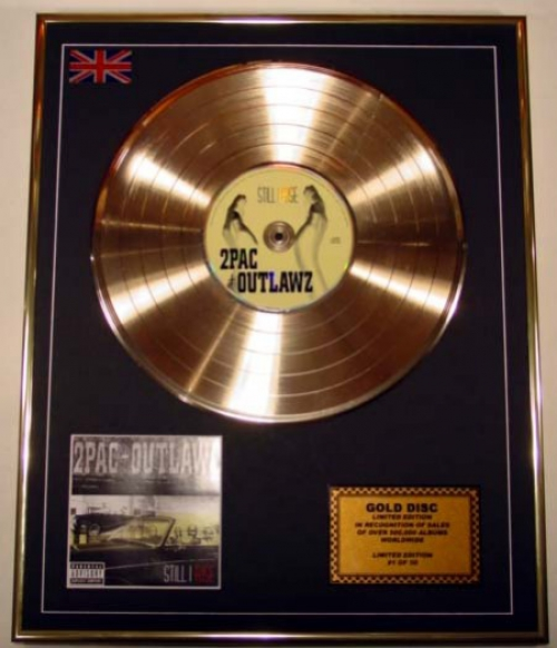 2PAC/LIMITED EDITION/CD GOLD DISC/ALBUM 'OUTLAWZ'