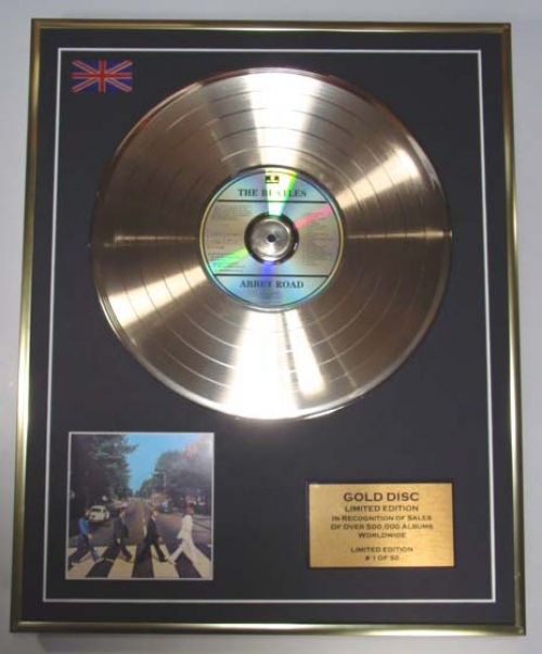 The Beatles Limited Edition Cd Gold Disc Album Abbey Road
