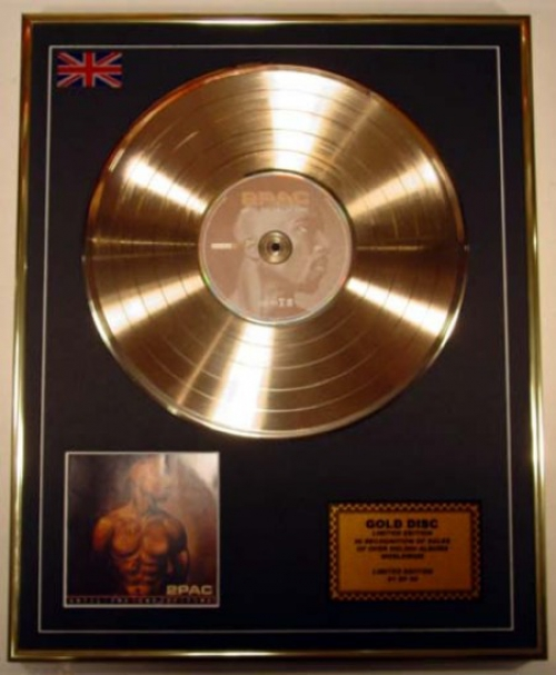 2PAC/LIMITED EDITION/CD GOLD DISC/ALBUM 'UNTIL THE END OF TIME'