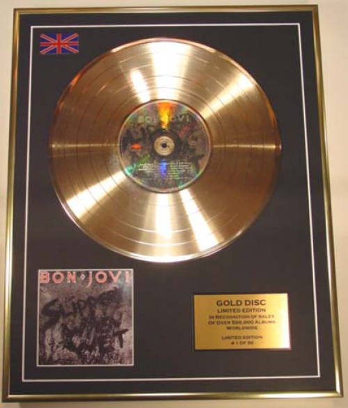Bon Jovi/Limited Edition Cd Gold Disc/'Slippery When Wet ...