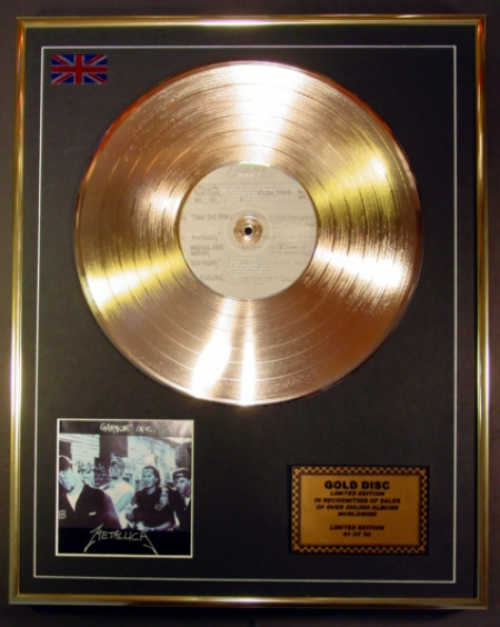Metallica Ltd Edition Cd Gold Disc Record Garage Inc