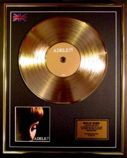 ADELE/CD GOLD DISC/RECORD/LTD. EDITION/19