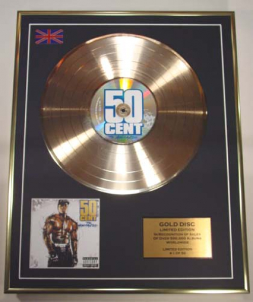 50 Cent/Limited Edition Cd Gold Disc/'The Massacre'/(50 Cent)