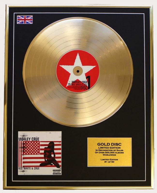 411862ce90184 Motley Crue/Limited Edition Cd Gold Disc/'Red, White & Crue'