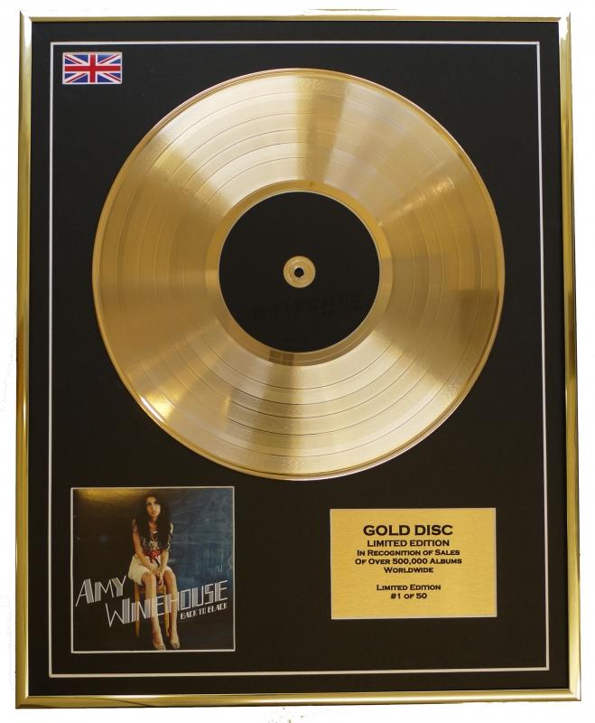 AMY WINEHOUSE/LTD. EDITION CD GOLD DISC/BACK TO BLACK