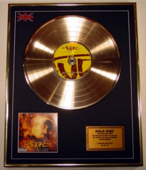 2PAC/LIMITED EDITION/CD GOLD DISC/ALBUM 'RESURRECTION'
