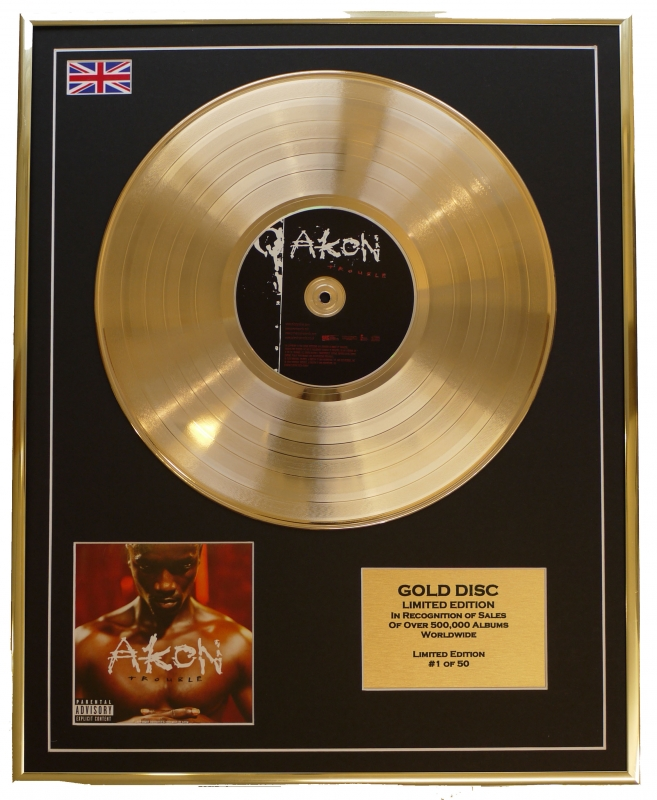 Akon/Limited Edition Cd Gold Disc/'Trouble'/(AKON)