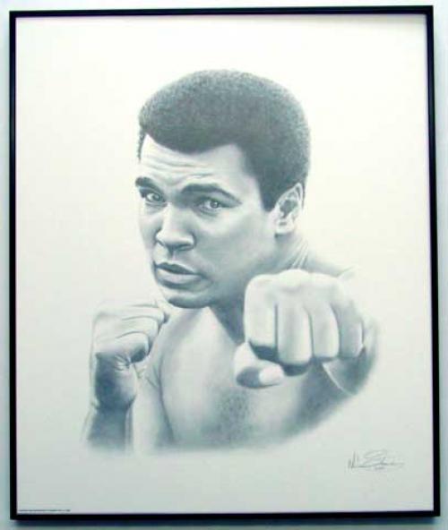 Muhammad Ali/Charcoal print framed (1)
