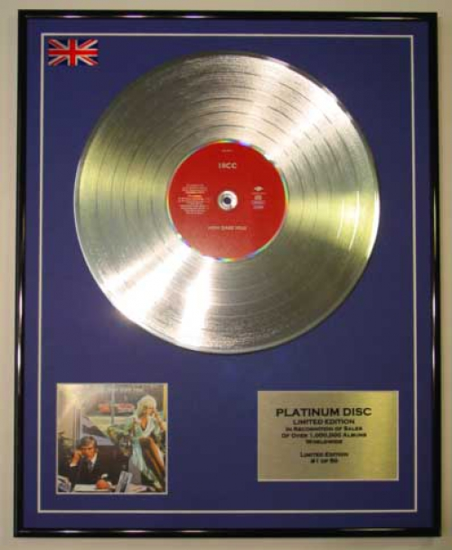 10CC/LTD EDITION CD PLATINUM DISC/HOW DARE YOU?