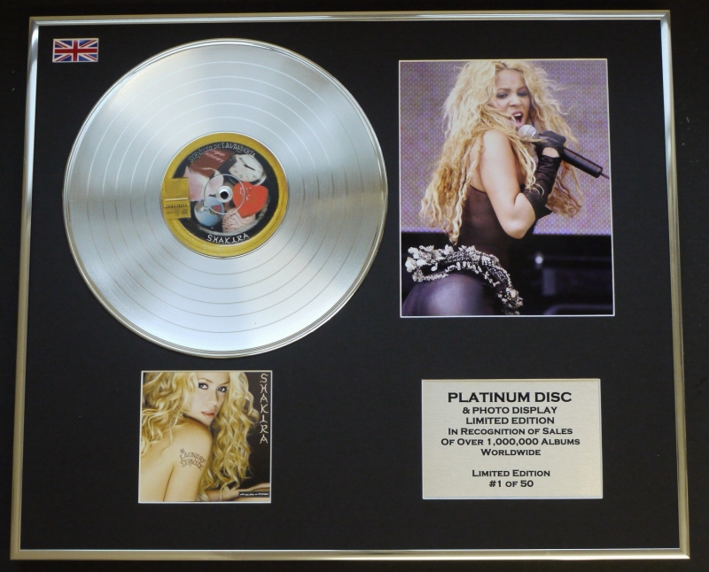 SHAKIRA/CD PLATINUM DISC & PHOTO DISPLAY/LIMITED EDITION ...