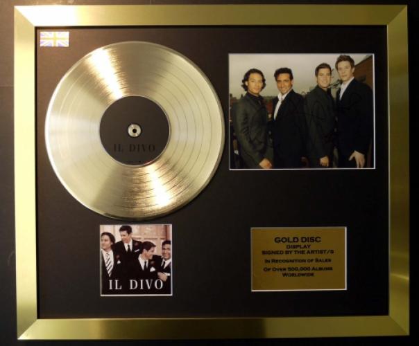 Il divo cd gold disc record signed photo coa - Il divo website ...