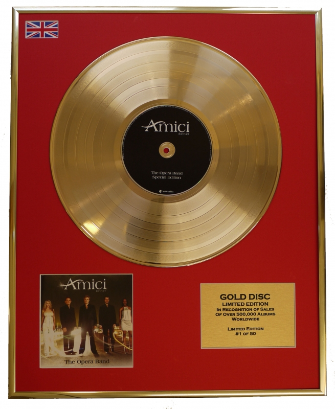 """AMICI/LTD. EDITION CD GOLD DISC/RECORD/""""FOREVER"""""""