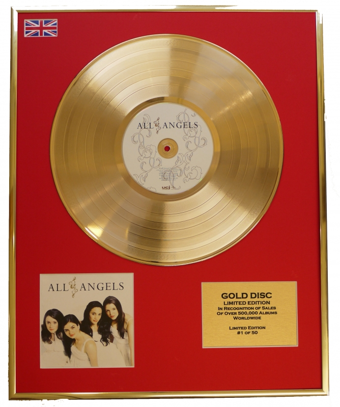 ALL ANGELS/LTD. EDITION CD GOLD DISC/RECORD/ALL ANGELS