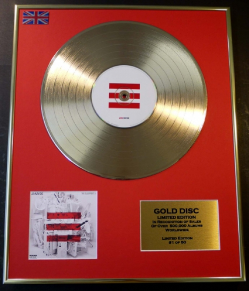 Jay zltd edition cd gold discrecordthe blueprint 3 malvernweather Gallery