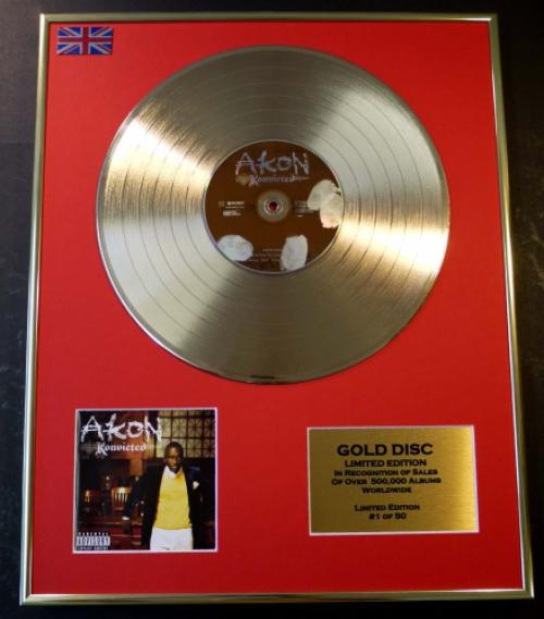 AKON/LTD. EDITION CD GOLD DISC/RECORD/KONVICTED