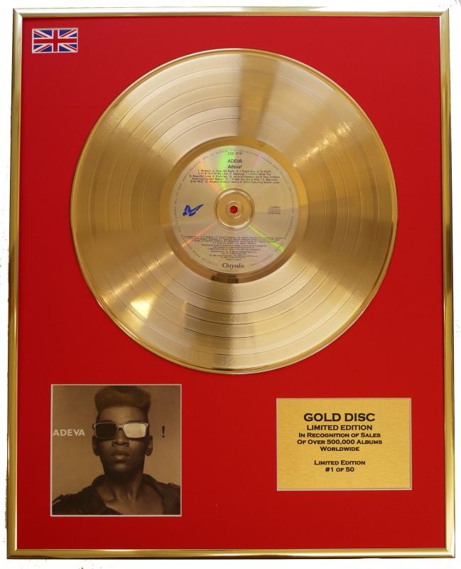 ADEVA/LTD. EDITION CD GOLD DISC/RECORD/