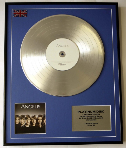 ANGELIS/LIMITED EDITION/CD PLATINUM DISC/RECORD/ANGELIS
