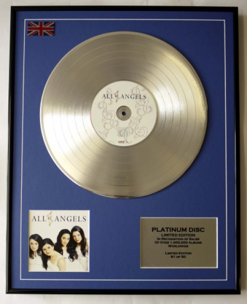 ALL ANGELS/LIMITED EDITION/CD PLATINUM DISC/RECORD/ALL ANGELS