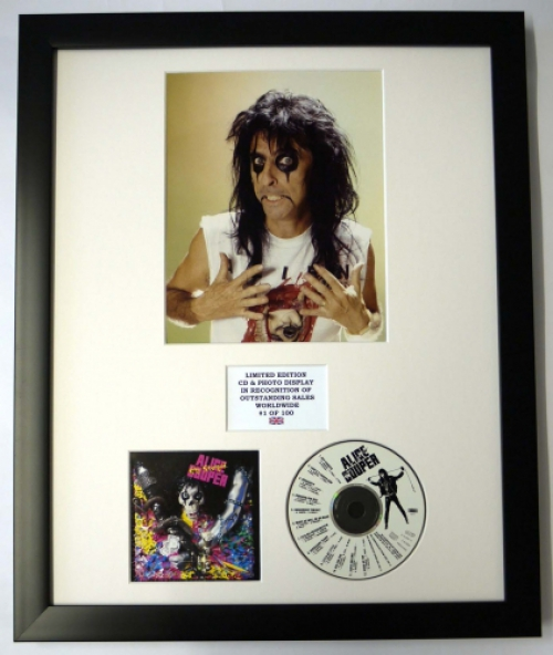ALICE COOPER/PHOTO & CD DISPLAY LTD. EDITION OF THE ALBUM HEY STOOPID