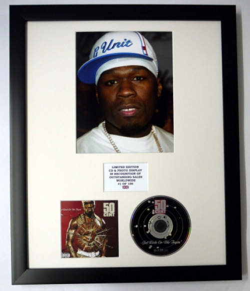 50 CENT/PHOTO & CD DISPLAY LTD. EDITION OF THE ALBUM GET RICH OR DI...