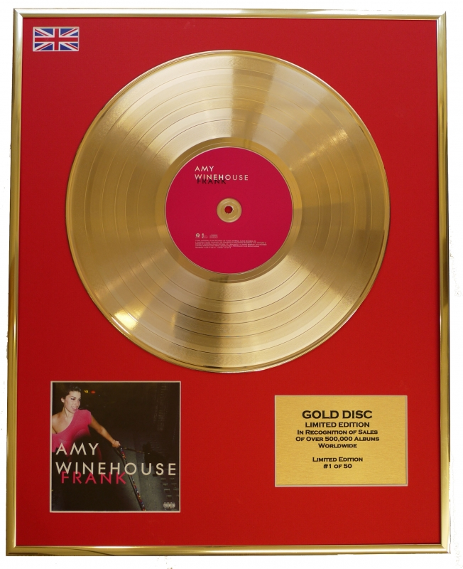 AMY WINEHOUSE/LTD. EDITION CD GOLD DISC/RECORD/FRANK