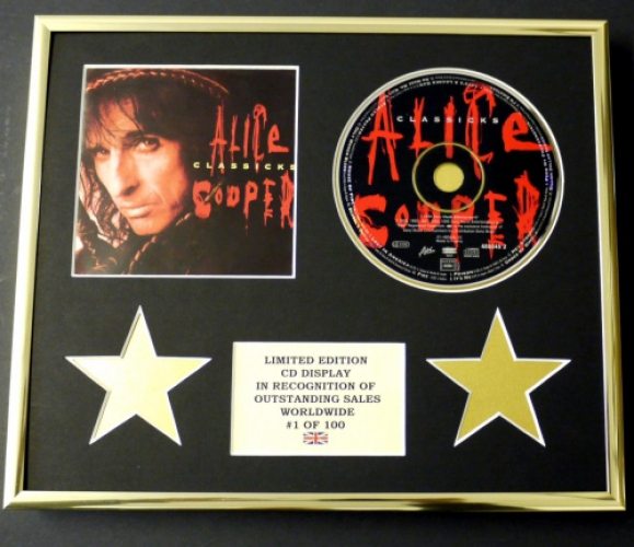 ALICE COOPER/CD DISPLAY/LIMITED EDITION/COA/CLASSICKS