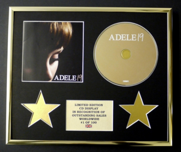 ADELE/CD DISPLAY/LIMITED EDITION/COA/19