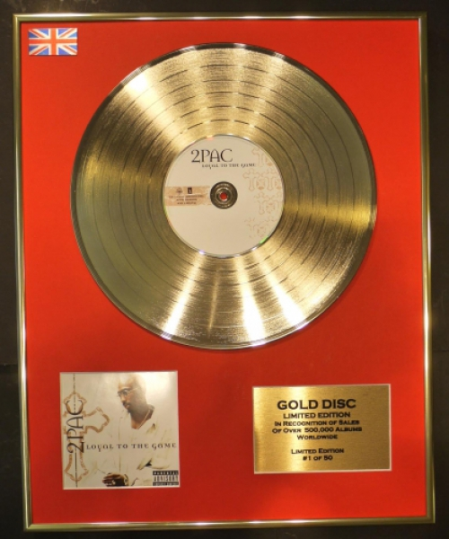 "2PAC/CD GOLD DISC/RECORD/LIMITED EDITION/COA/""LOYAL TO THE GAME"""