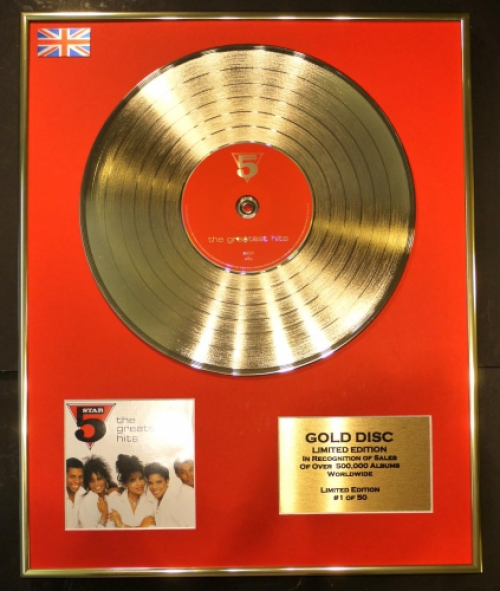 "5 STAR/CD GOLD DISC/RECORD/LIMITED EDITION/COA/""THE GREATEST HITS"""
