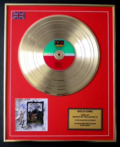 Limited Edition mini gold disc Display LED ZEPPELIN//MINI GOLD DISC DISPLAY//LIMITED EDITION//COA//LED ZEPPLIN