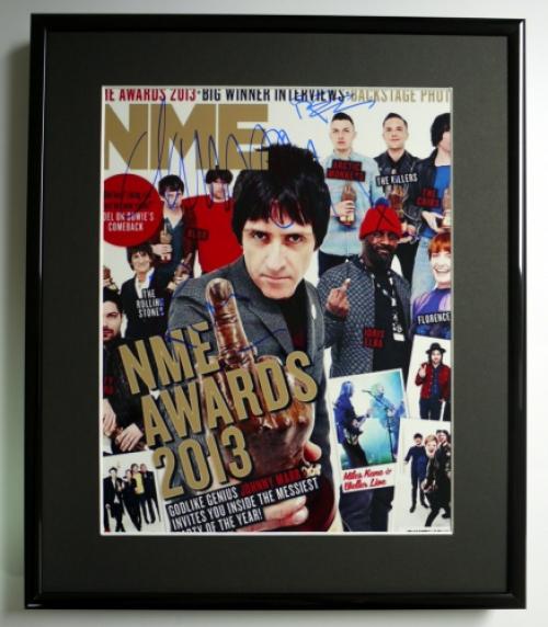 NME/PROMO/PIC/SIGNED/FRAMED/COA RONNIE WOOD, DAMON ALBARN