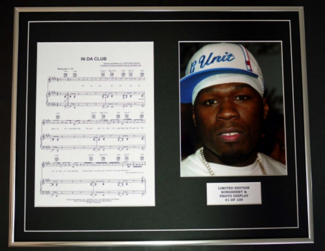50 CENT/SONG SHEET & PHOTO DISPLAY/LTD. EDITION/IN DA CLUB