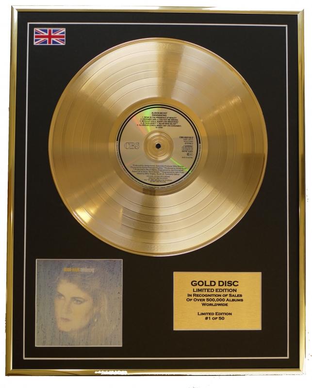 ALISON MOYET/LTD. EDITION CD GOLD DISC/RECORD/RAINDANCING